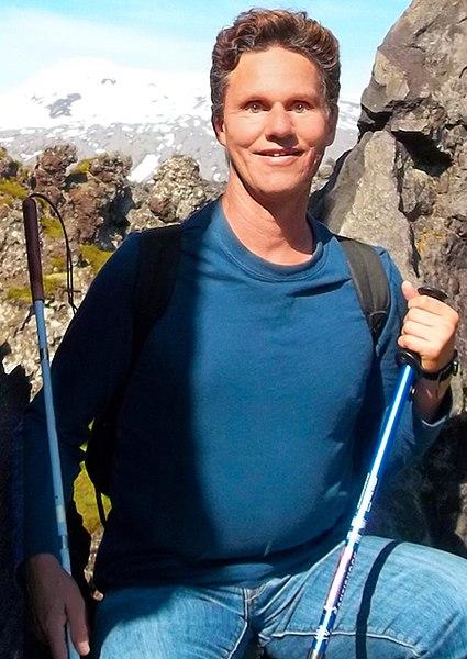 Picture of Daniel Kish Hiking.