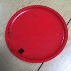 Plastic red camping plate